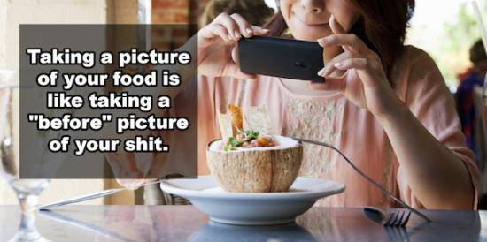 Taking A Picture Of Your Food!